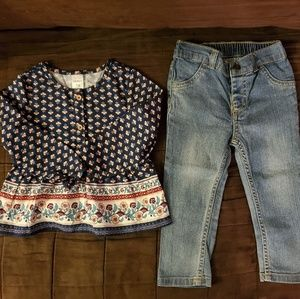 Carter's Baby Girls 2 Piece Outfit Set